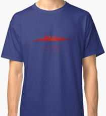 Los Angeles skyline in red Classic T-Shirt