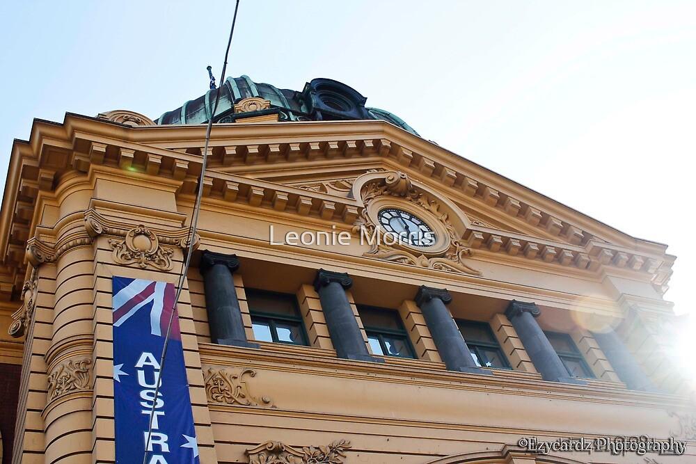 Flinders Street Station Melbourne 1 by Leonie Morris