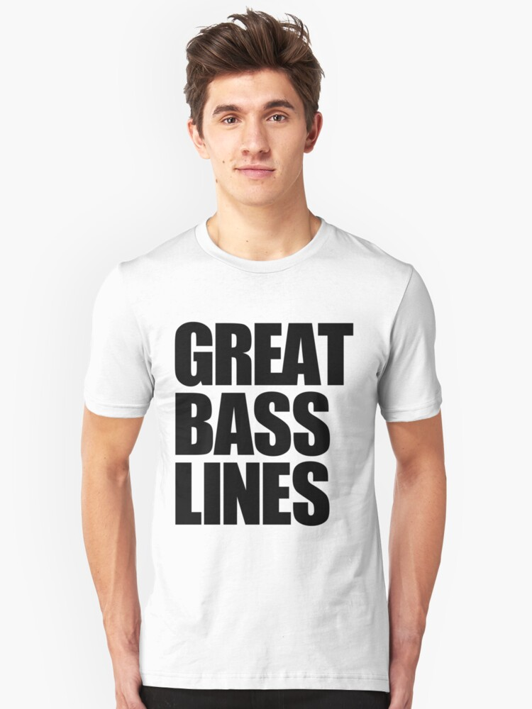 Great Bass Lines (black) Unisex T-Shirt Front