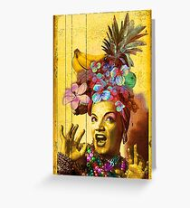 Tropical Miranda Greeting Card