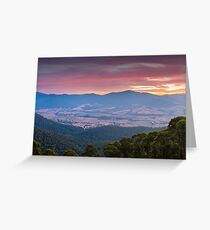 Valley of Smoke Greeting Card