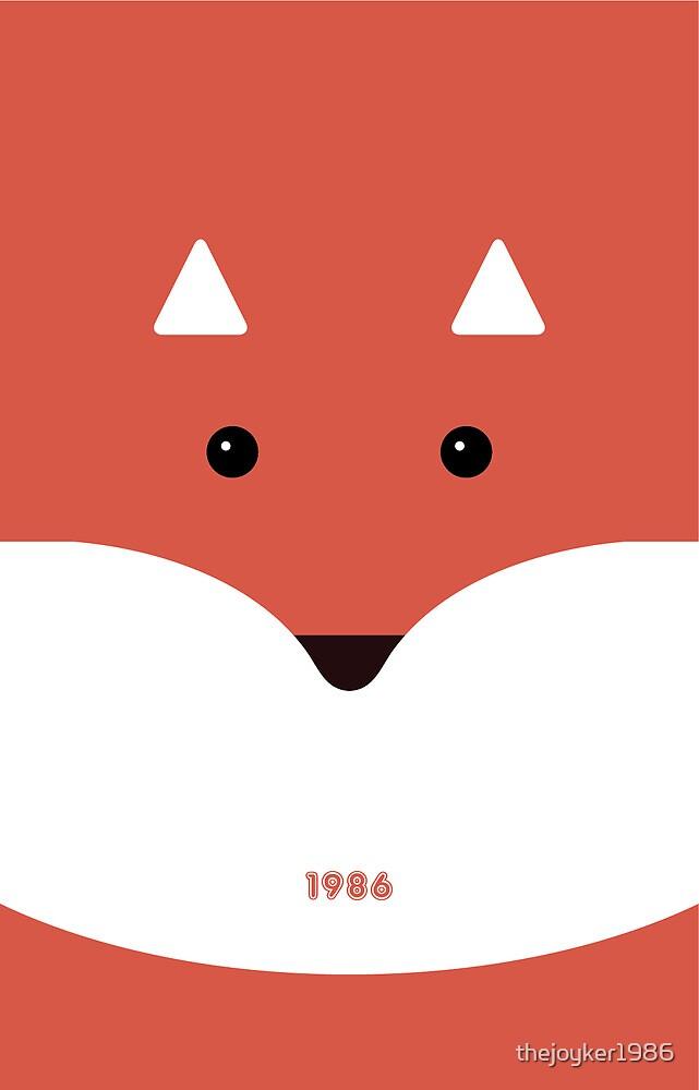 Cute Fox Cartoon by thejoyker1986