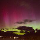 Aurora Australis over Queenstown by Allyeska
