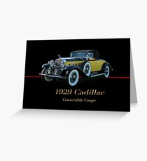 1929 Cadillac Convertible Coupe Greeting Card
