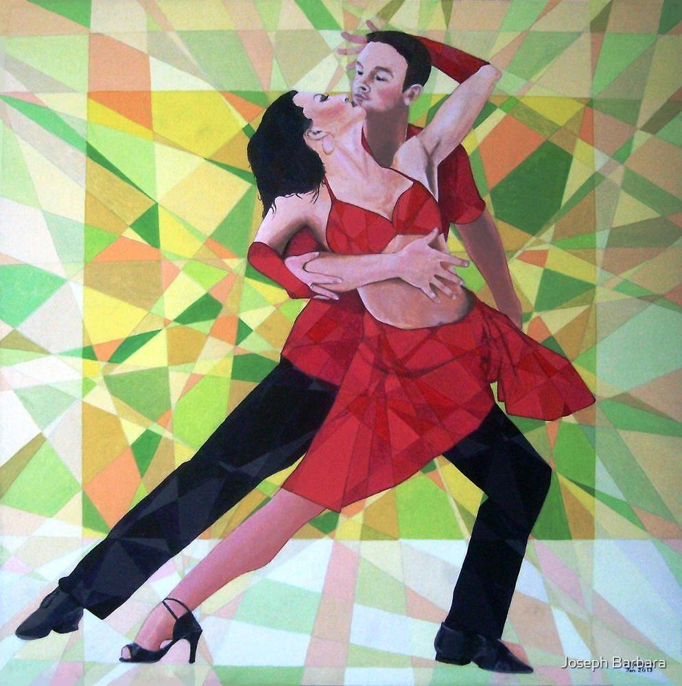 Prismatic Argentinean Tango Dancers 3 by Joseph Barbara