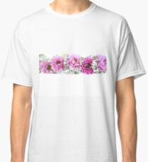 purple and mauve Flower frame on white  Classic T-Shirt