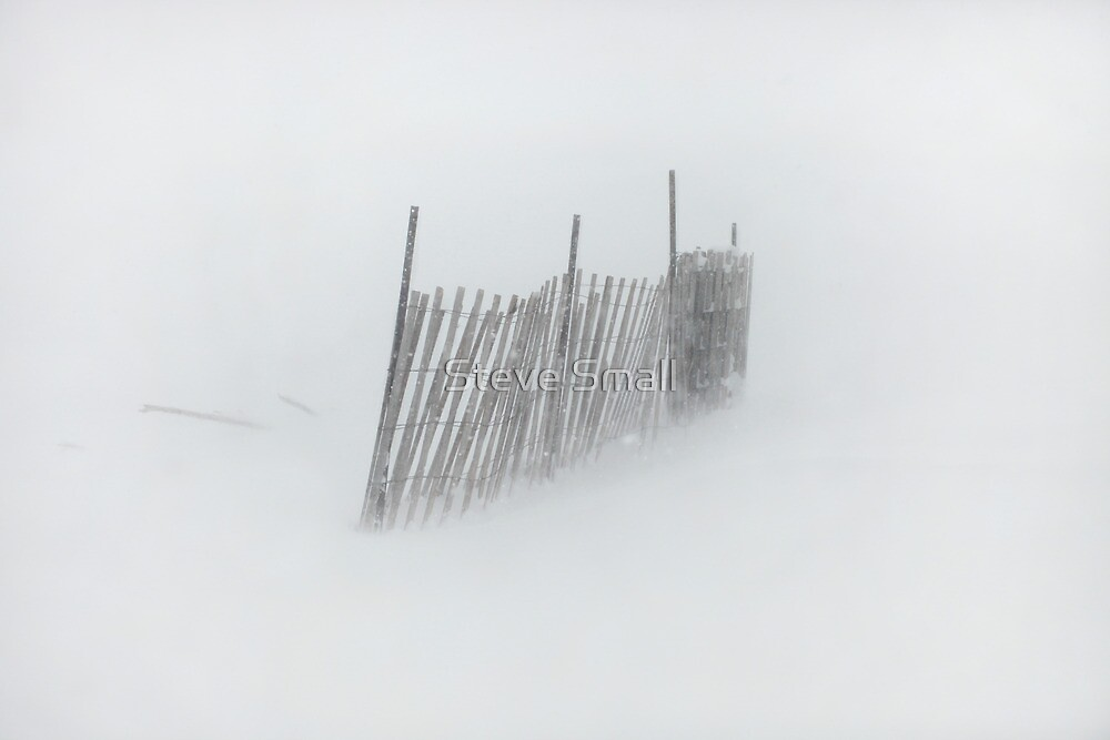 Snow Fence by Steve Small
