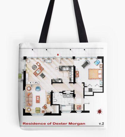 Floorplan of the apartment of Dexter Morgan v.2 Tote Bag