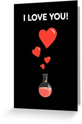 Flask Of Hearts Geek Valentine's Day Card by Boriana Giormova