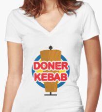 Doner Kebab Women's Fitted V-Neck T-Shirt