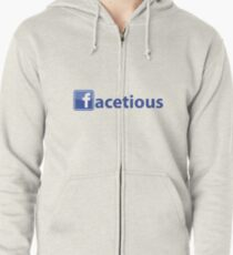 Facetious Zipped Hoodie
