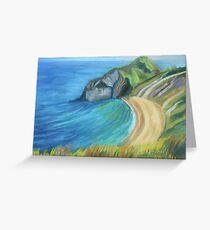 Man O' War Beach, Dorset Greeting Card