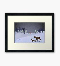 Snow beauty Framed Print