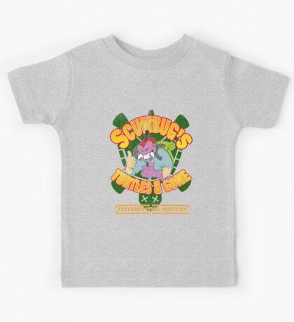 Scumbug's Turtles B gone Extermination Services (distressed)  Kids Clothes