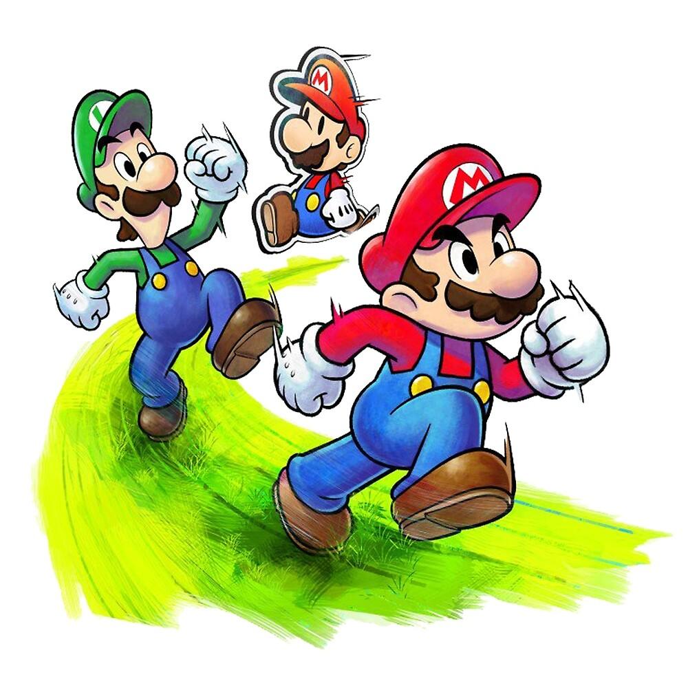 mario and luigi brothers nintendo by koudir redbubble