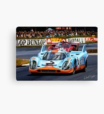 Porsche 917 at Le Mans Canvas Print