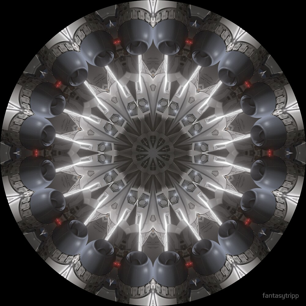 Jet Engine Kaleidoscope 01 by fantasytripp