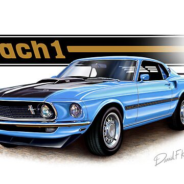 1969 Mustang Mach 1 in Light Blue by davidkyte
