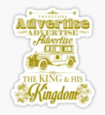 Advertise! Advertise! Advertise!  Sticker