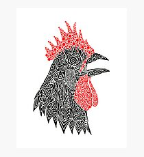 Cock-A-Doodle Photographic Print