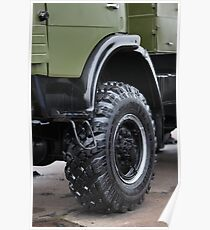 army truck wheel Poster