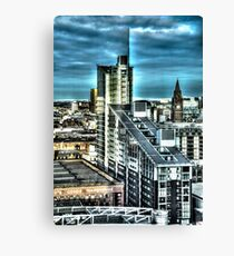 Manchester Buildings HDR Canvas Print
