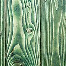 Green stained wood by Harald Walker