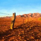Outback Fence (GO2) by Ray Warren