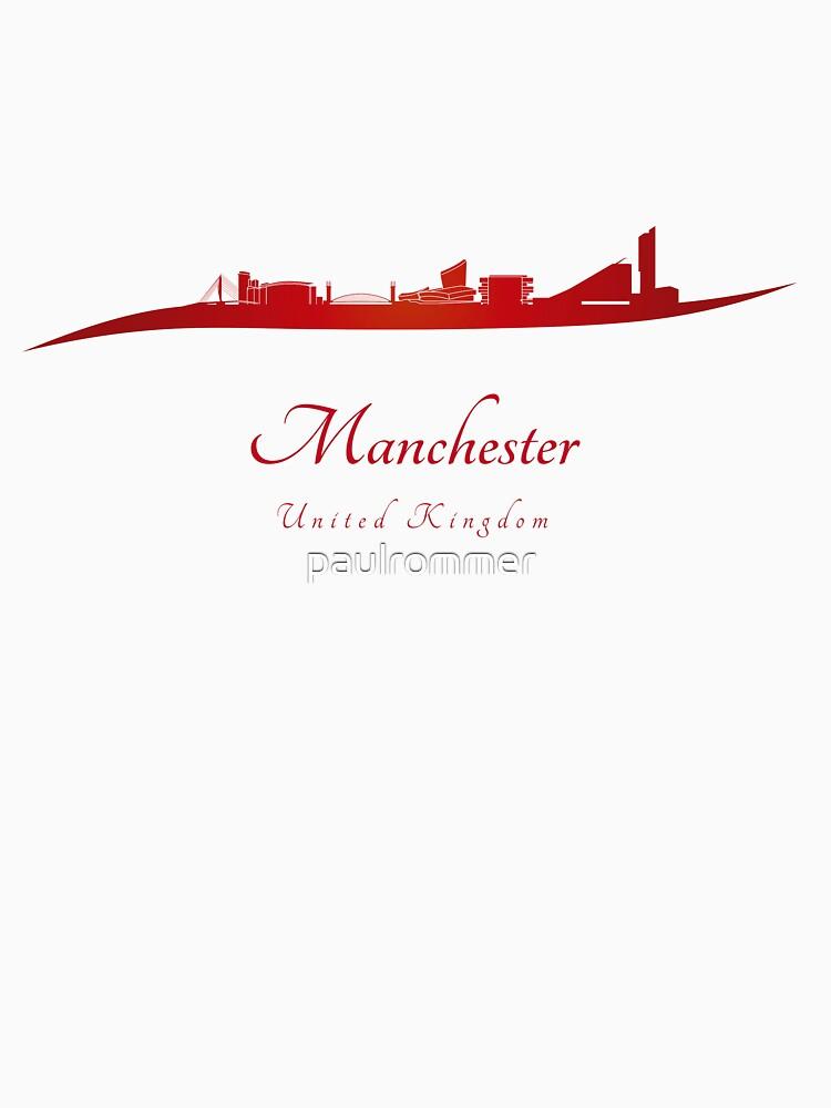 Manchester Skyline in rot von paulrommer