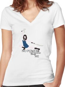No Power in the 'Verse Women's Fitted V-Neck T-Shirt