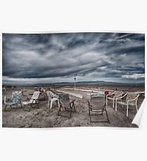 Salton Sea Series: Lounging at the shuffleboard site Poster