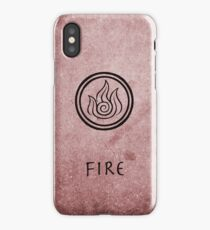 Avatar Last Airbender Elements - Fire iPhone Case/Skin