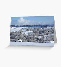 Devon winter snowscape Greeting Card