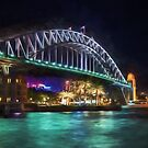 Sydney Harbor Bridge at Night (GO2) by Ray Warren