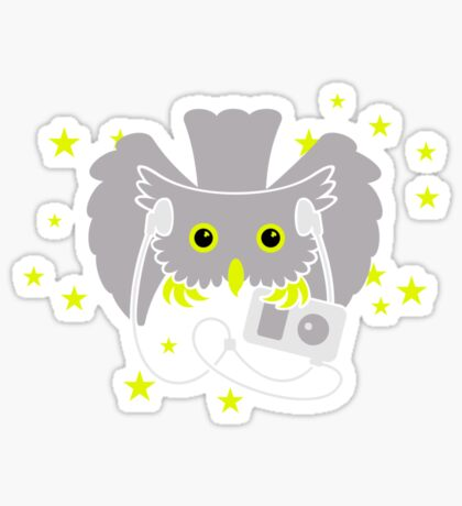 Owl on Night Prowl VRS2 Sticker