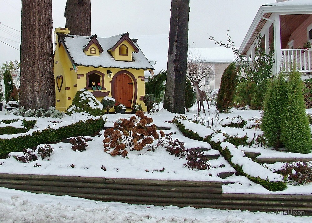 Snowy Steps by AnnDixon