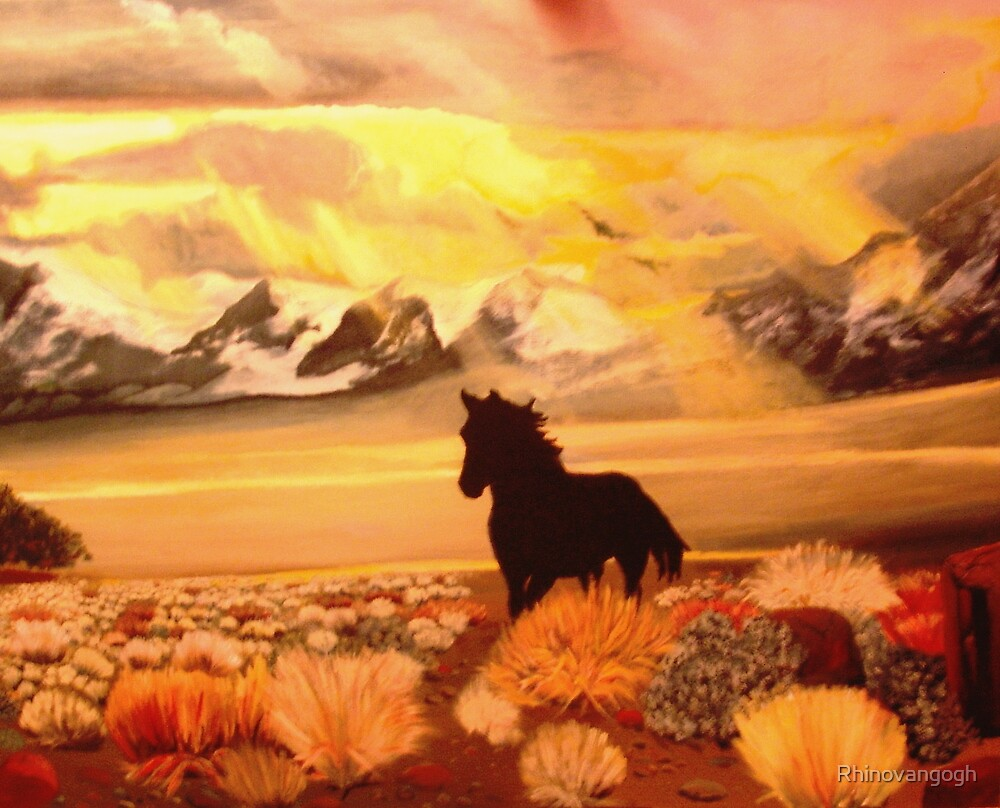 Nations' Horse Two by Rhinovangogh