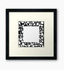 white square Framed Print