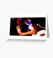 Heavy Metal Never Die Greeting Card