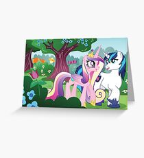 Stroll through Canterlot Gardens Greeting Card