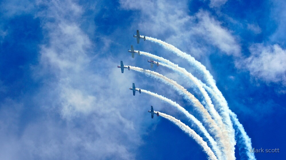 stunt planes by Mark scott