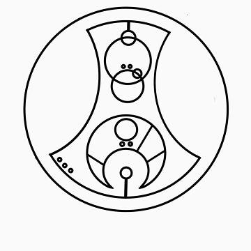 Fuck You - Circular Gallifreyan (black) by robynhinchman