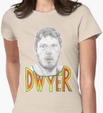 Andy Dwyer/Chris Pratt Portrait Womens Fitted T-Shirt