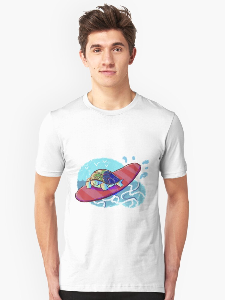 Surfing Turtle Unisex T-Shirt Front