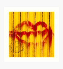 Construction Lips Art Print