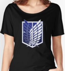 Attack On Titans Survey Corps Logo Women's Relaxed Fit T-Shirt