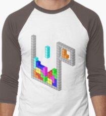 Isometric Tetris Men's Baseball ¾ T-Shirt