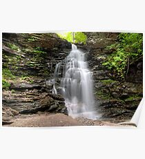 Ozone Falls Beyond The Boulders Poster