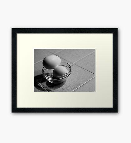 Still Life - Eggs Framed Print