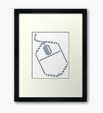 Digital computer mouse Framed Print